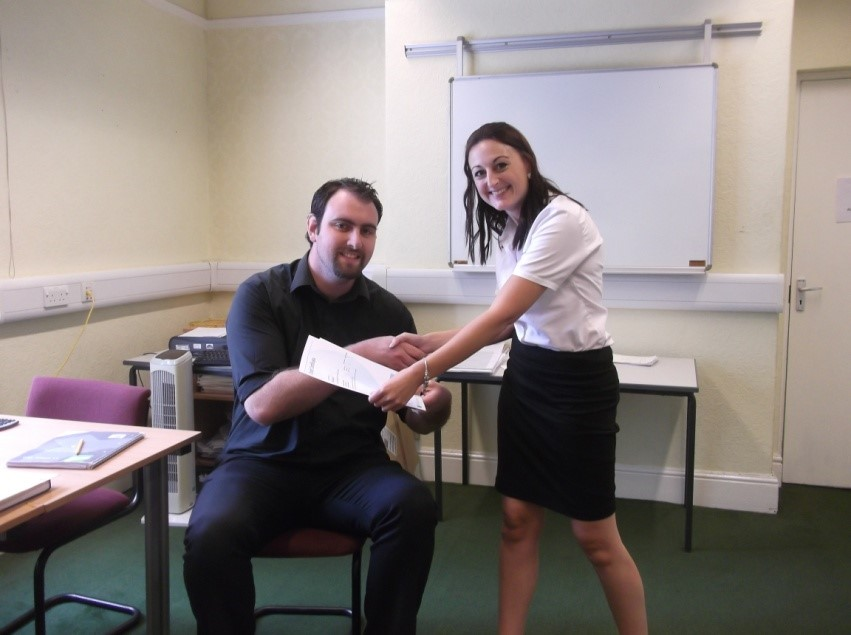 Pictured is Ben Lockley and his assessor Kayleigh Pilgrim.